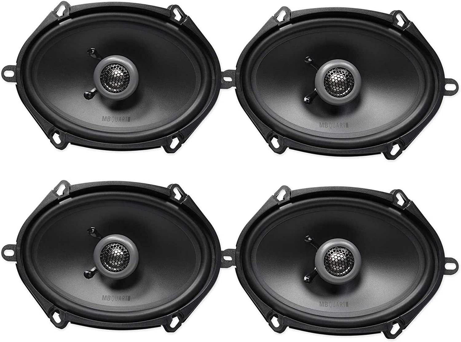 (4) MB QUART FKB168 6x8 200 Watt Car Stereo Coaxial Speakers 715qxj2BenyL