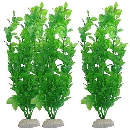 Sikete Plantas de pl¨¢stico artificial de algas marinas adornos de peces de acuario
