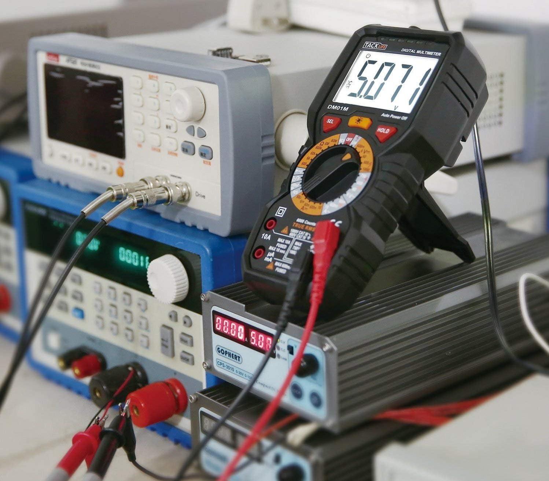 d/étecteur de tension sans contact /écran r/étro/&eacut d/étection amp/ères volts et temp/ératures DM01M Multim/ètre num/érique avanc/é TRMS test de continuit/é 6000 points ohms Tacklife