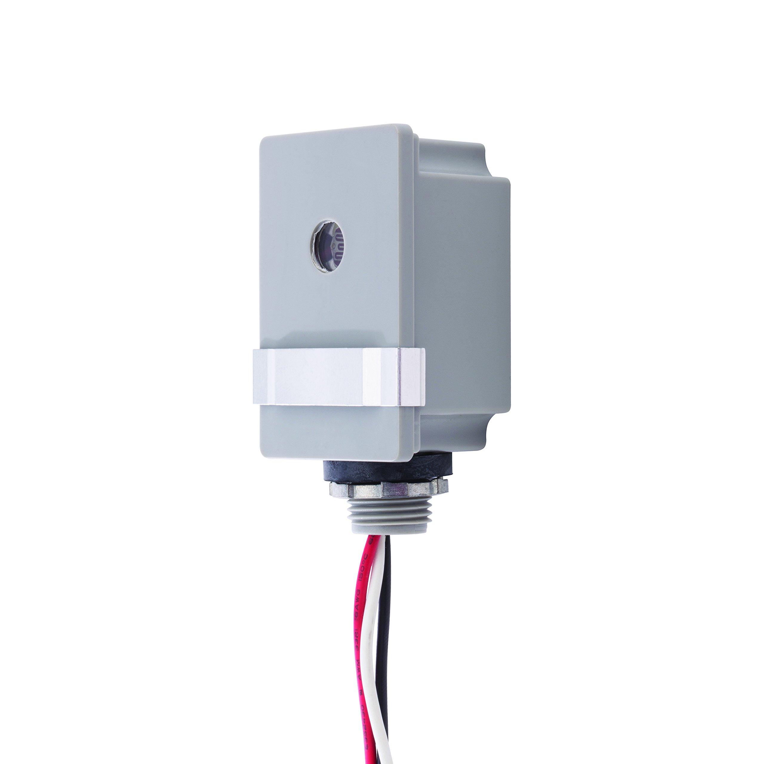 NSi Industries TORK RKP201 Outdoor 120-Volt Stem Mount Photocontrol With Light Adjustment Bar - Controls Lighting Dusk to Dawn - Compatible with Incandescent/Compact Fluorescent/Halogen/LED