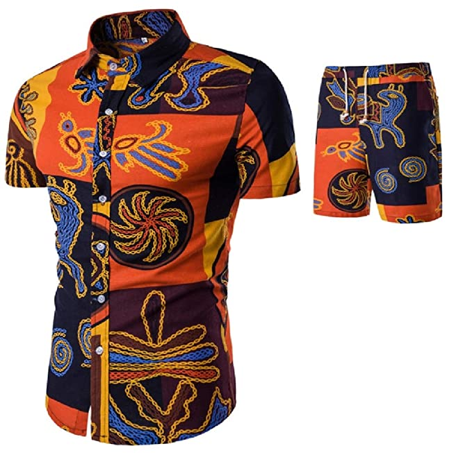 Gocgt - Chándal para Hombre (algodón y Lino), diseño étnico 2 36 ...