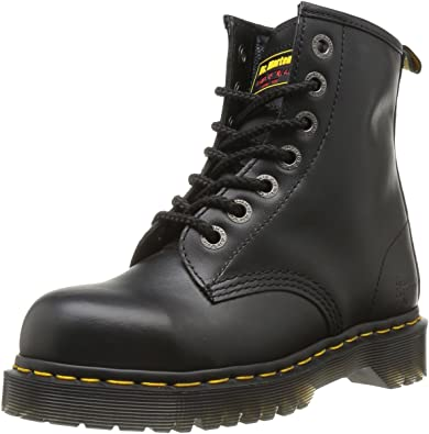 Unisex Black Leather Safety 7B10 Boots