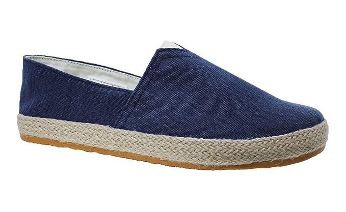 low priced 0f1e7 ed45b Mocassini espadrillas uomo artigianali casual blu scarpe ...