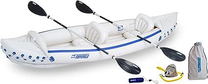 Amazon.com: Sea Eagle SE370 kayak inflable con paquete de ...