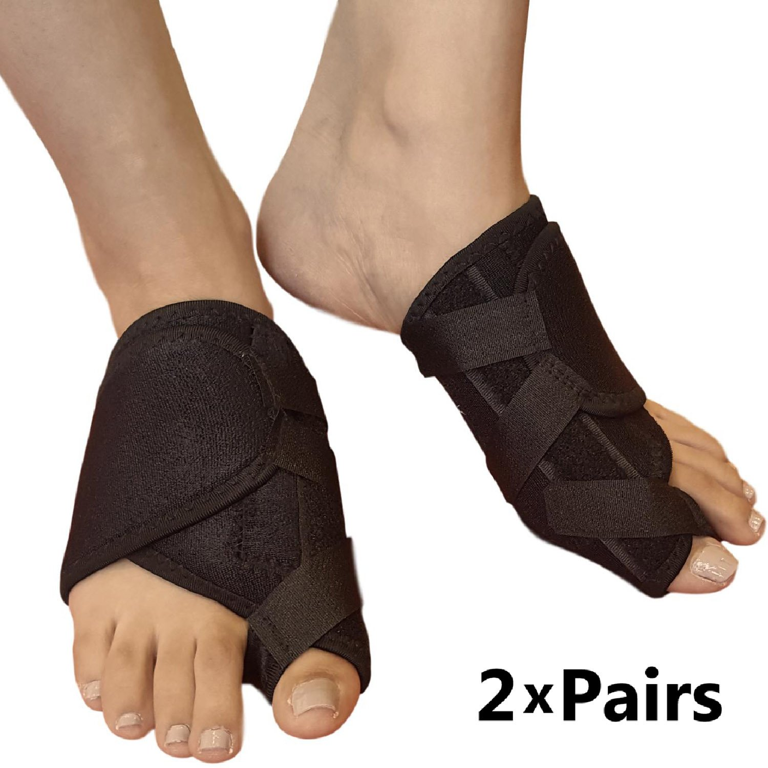Bunion Corrector Toe Straightener - Bunion Brace For Big Toes or Tailors Bunions. Ideal Hallux Valgus Orthopedic Brace & Toe Separator for Foot Pain Relief. Foot Splint for Day or Night Time (2 Pairs) by ARMSTRONG AMERIKA