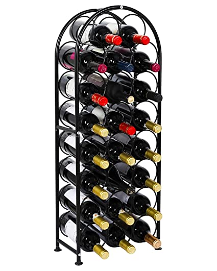 Amazoncom Pag 23 Bottles Arched Free Standing Floor Metal Wine