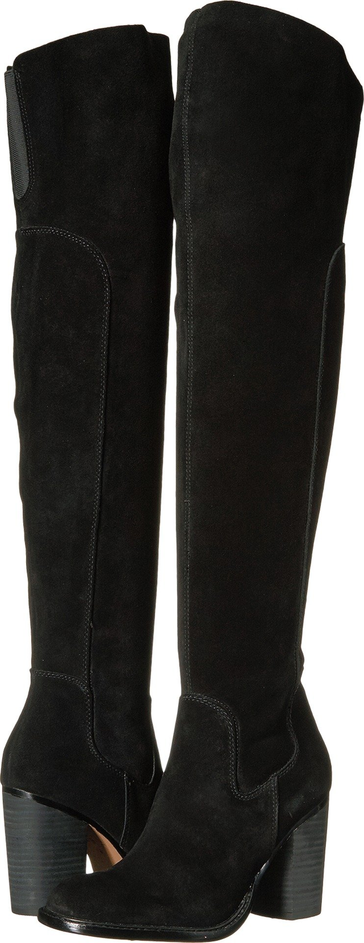 Kelsi Dagger Brooklyn Women's Logan Over the Knee Boot, Black, 6.5 Medium US