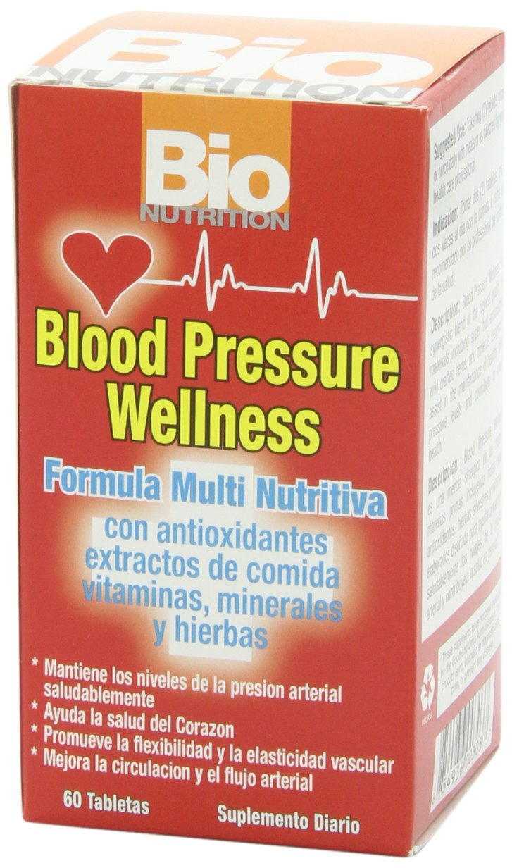 Amazon.com: Bio Nutrition Blood Pressure Wellness Tabs, 60 Count: Health & Personal Care