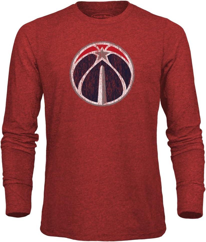 Majestic Athletic NBA Mens NBA Mens Premium Triblend Long Sleeve Tee