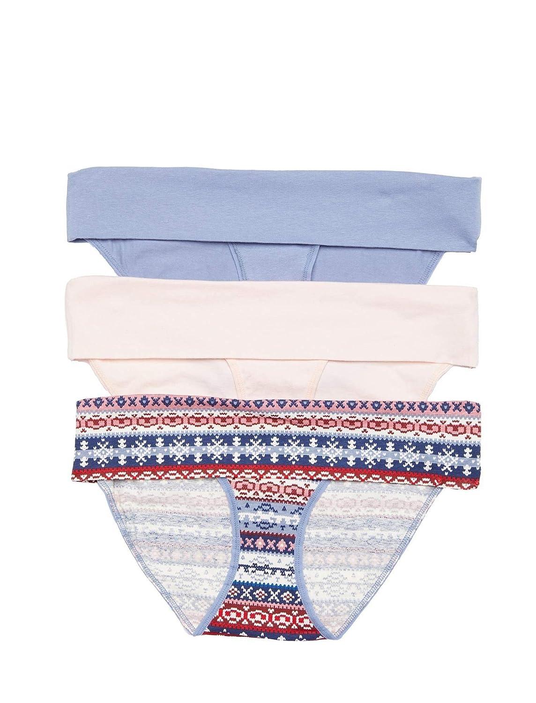 b271bb55489 Motherhood Maternity Women s Maternity 3 Pack Fold Over Brief Panties at  Amazon Women s Clothing store