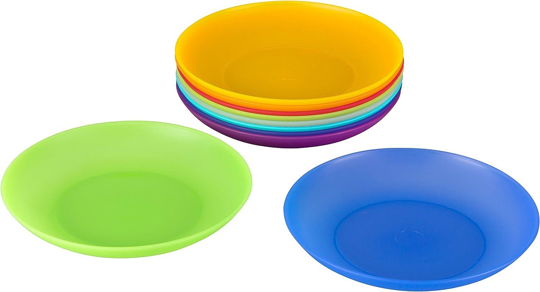 IKEA Kalas Kinderteller versch Farben 6er Pack Teller BPA frei Essteller NEU