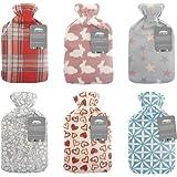 City Comfort  Hot water bottle with soft fleece cover - Natural rubber 2 litre - British design - Uk safe tested
