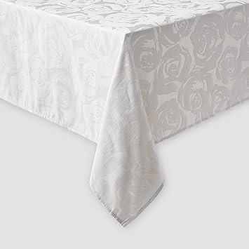 Kate Spade New York Coming Up Roses Tablecloth 60 X 102u0026quot; Light Platinum