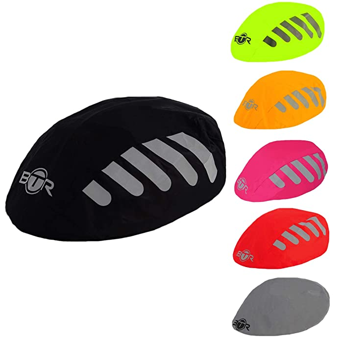 BTR High Visibility Universal Size Bike/Bicycle Waterproof Helmet Cover