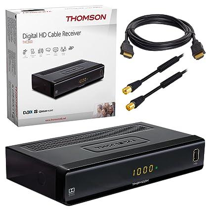 HB de Digital Set: THOMSON thc300 HD Receptor de televisión digital DVB-C Cable