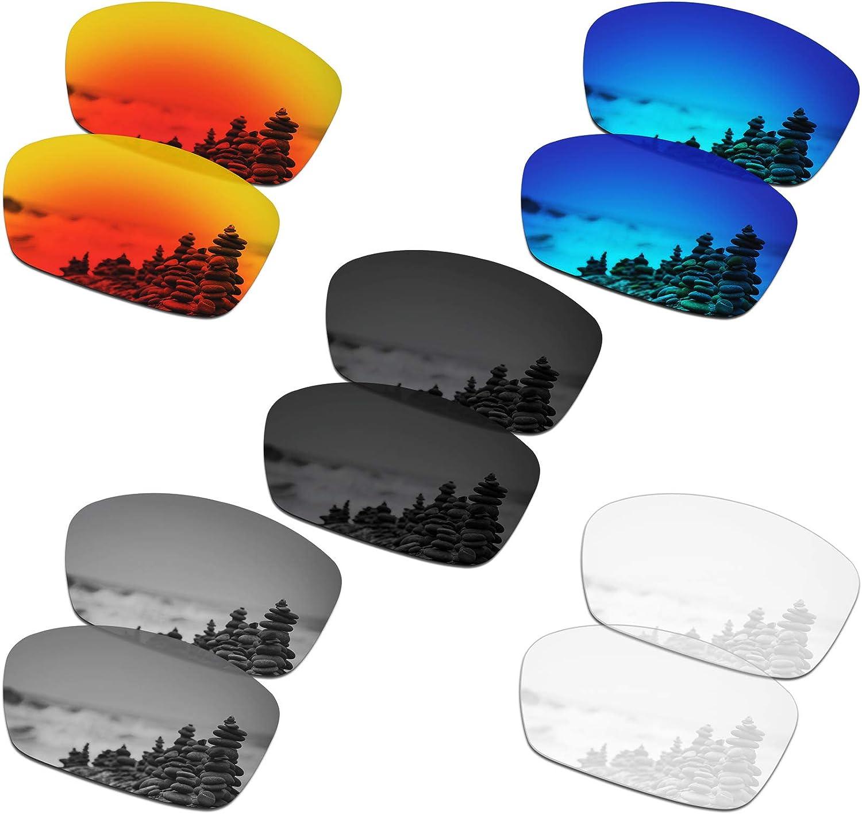 SmartVLT Set of 5 Men's Replacement Lenses for Oakley Hijinx Sunglass Combo Pack S01