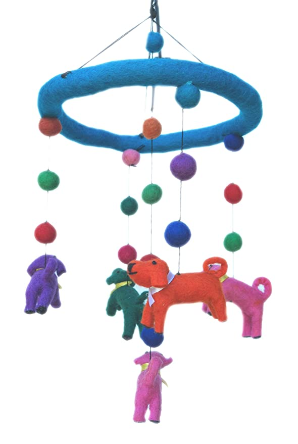 neutral nursery - Baby Crib Mobile Baby Mobile neutral custom dog mobile baby mobile boy Dog mobile Baby mobile dog