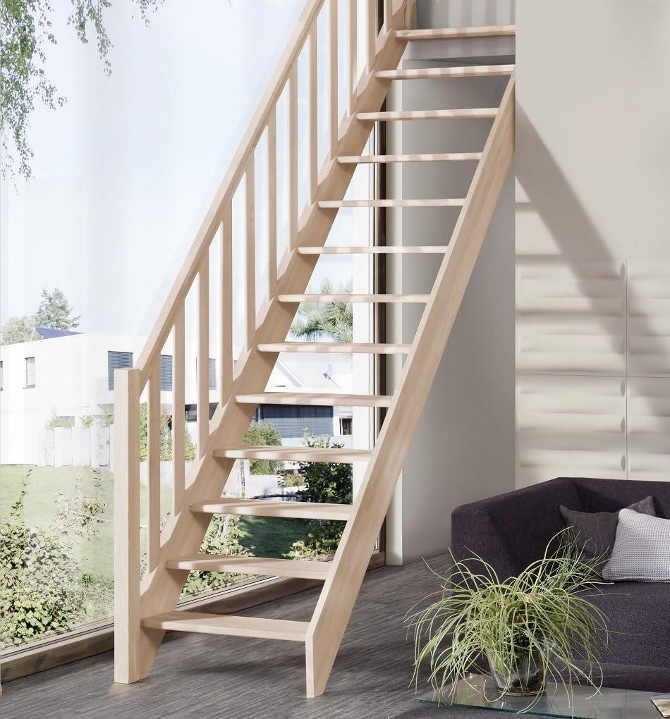 Ahorro de espacio escaleras casa blanca Intercon de madera maciza de madera de la columna barandillas de madera de haya/de madera de abeto: Amazon.es: Bricolaje y herramientas