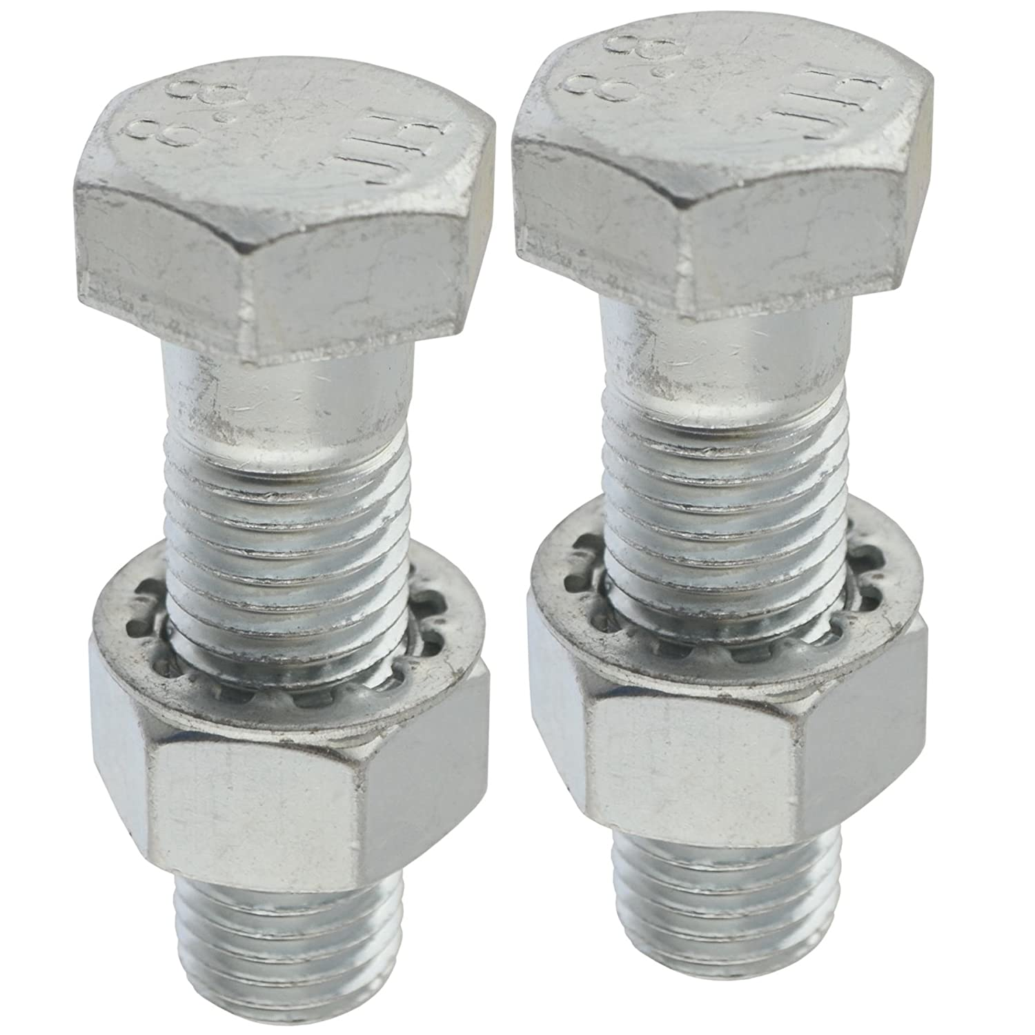 AB Tools-Maypole PAIR Tow Bar/Tow Ball Bolts 55mm Long with Nuts & Washers HIGH TENSILE