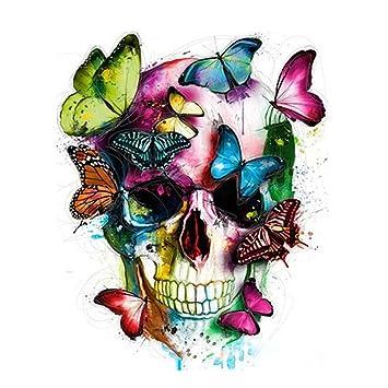 Wincy Shop Malen Nach Zahlen Kit Rahmenlos Diy ölgemälde Auf Leinwand Mit Acryl Pigmente Für Erwachsene Und Anfänger Totenkopf Kopf Mit
