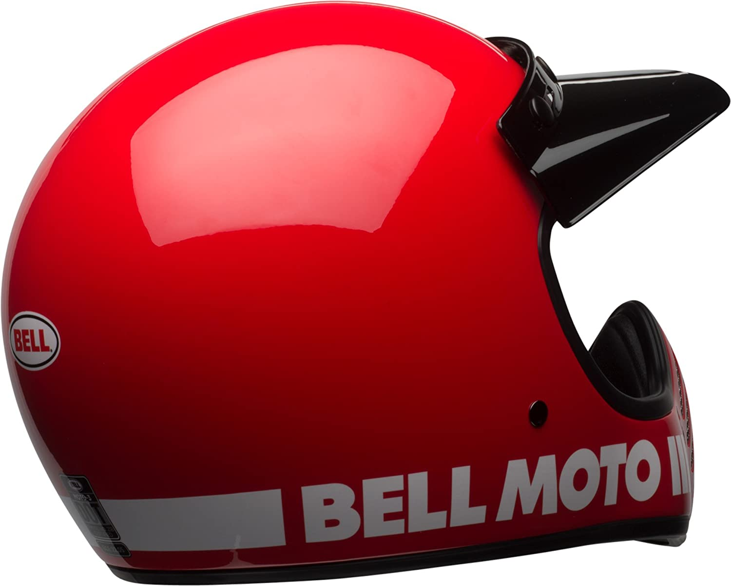 Amazon.com: Bell Moto-3 Off-Road Motorcycle Helmet (Classic Gloss Red, Medium): Automotive