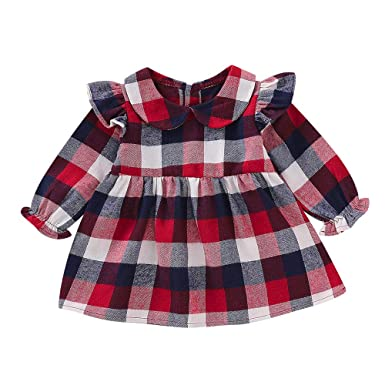 Amazon.com: Hatop Kids Baby Girls Long Lantern Sleeve Ruffles ...