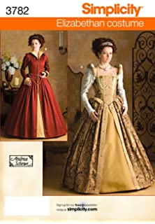 Amazon com: Simplicity Andrea Schewe Pattern 2573 Misses Medieval