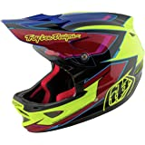 Troy Lee Designs Composite Cadence Adult D3 Bike Sports BMX Helmet - Yellow/Red