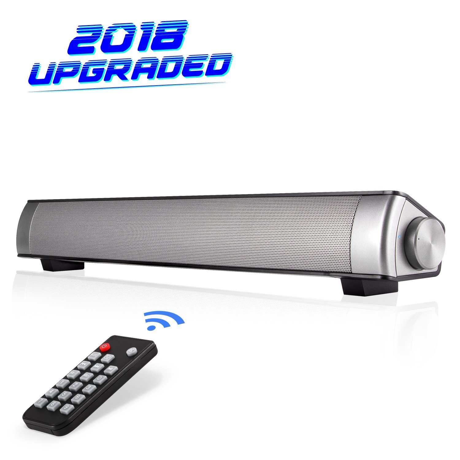 Stonecheng Sound Bar [2018 Upgraded] SoundBar Speaker Wired and Wireless Buletooth with Remote Control, Multifunctional SoundBar for iPhone/iPad/Tablet PC/Smartphone/MP3 Player/TV
