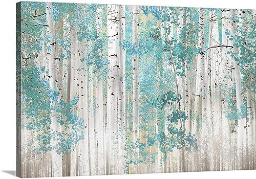 Birch Trees T Canvas Wall Art Print