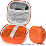 Bright Orange Protective Case for Bose SoundLink Micro Bluetooth Speaker, Best Color and Shape Matching, Featured Secure and Easy Pulling Out Strap Design, Mesh Pocket for Cable and accessorie