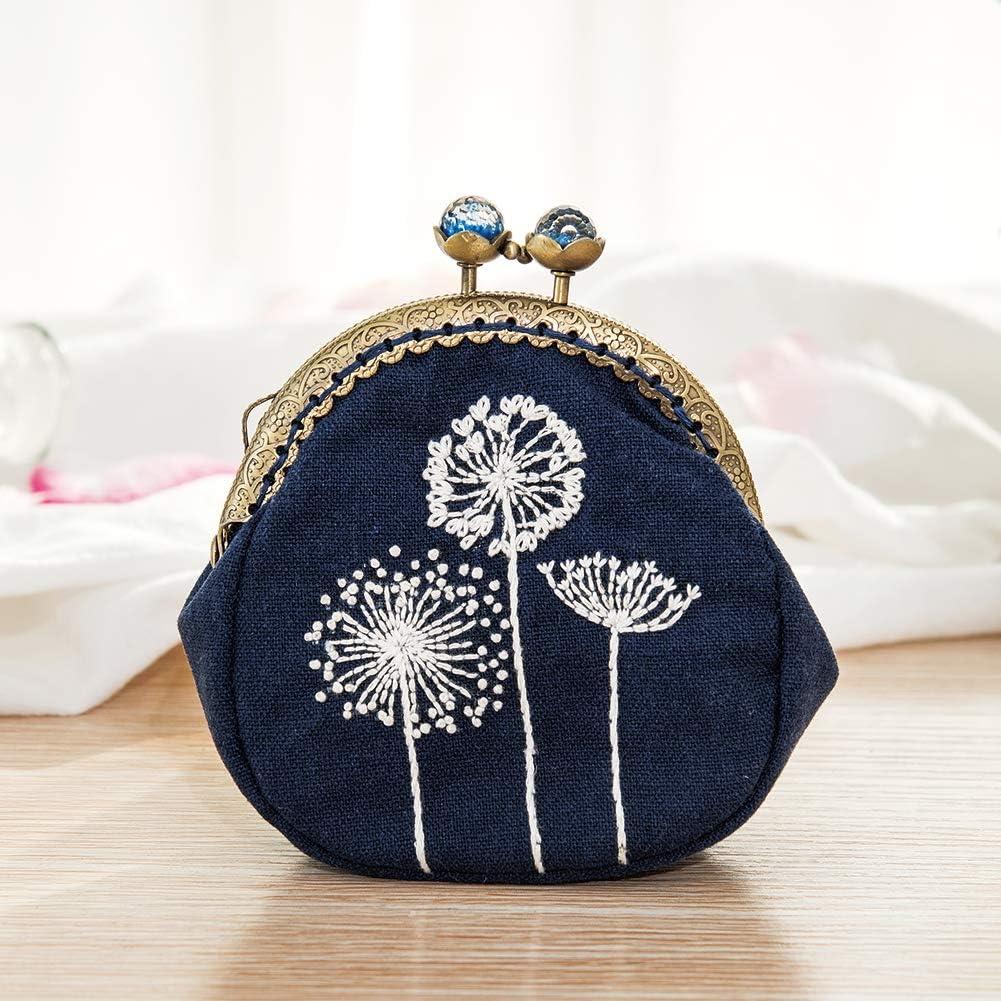 Kits Handmade DIY Coin Purse Kiss Lock Material Kit Embroidery ...