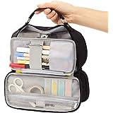 EASTHILL Estojo de lápis de grande capacidade, armazenamento de papelaria, bolsa grande portátil para caneta, vários comparti