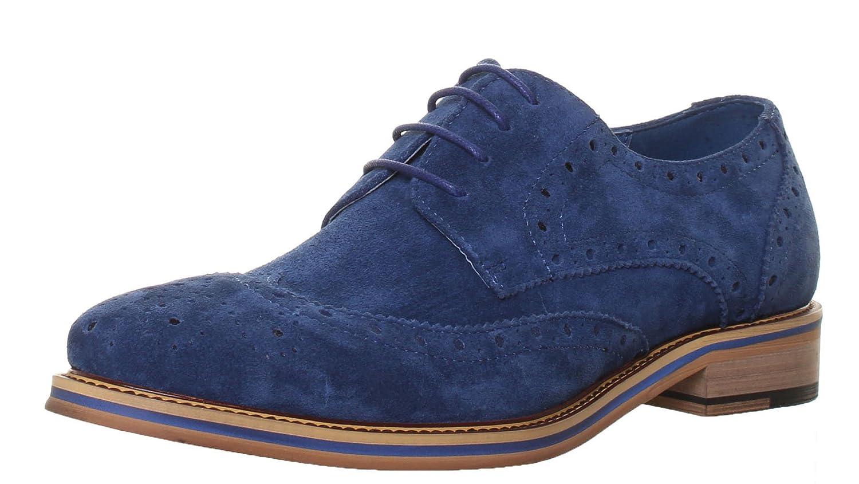 Justin Reece Matt, Chaussures de Ville à Lacets pour Homme - Marron - Brown Blue,