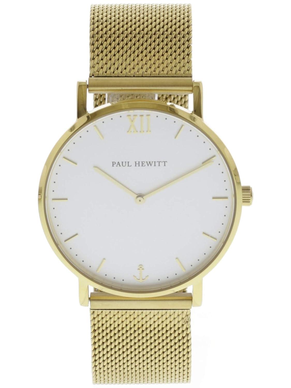 Paul Hewitt Reloj Analógico de Cuarzo Unisex con Correa de Acero Inoxidable - PH-SA-G-St-W-4M: Amazon.es: Relojes