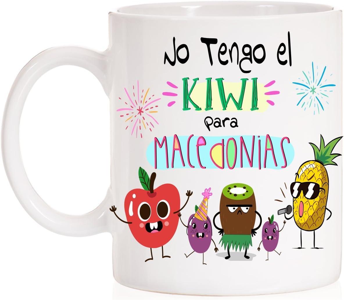 Taza No Tengo el Kiwi para macedonias. Divertida Taza de Regalo para Amigas o para cumpleaños, Fiestas. Ideal para sorprender con Caja Divertida a Juego.