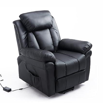 HOMCOM Elektrischer Fernsehsessel mit Aufstehhilfe (schwarz)