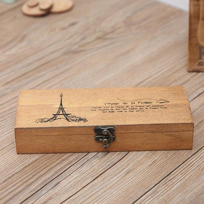 Caja de Slmacenamiento, Retro joyería caja de almacenamiento de la Torre Eiffel organizador titular de la moneda estuche de papelería LMMVP