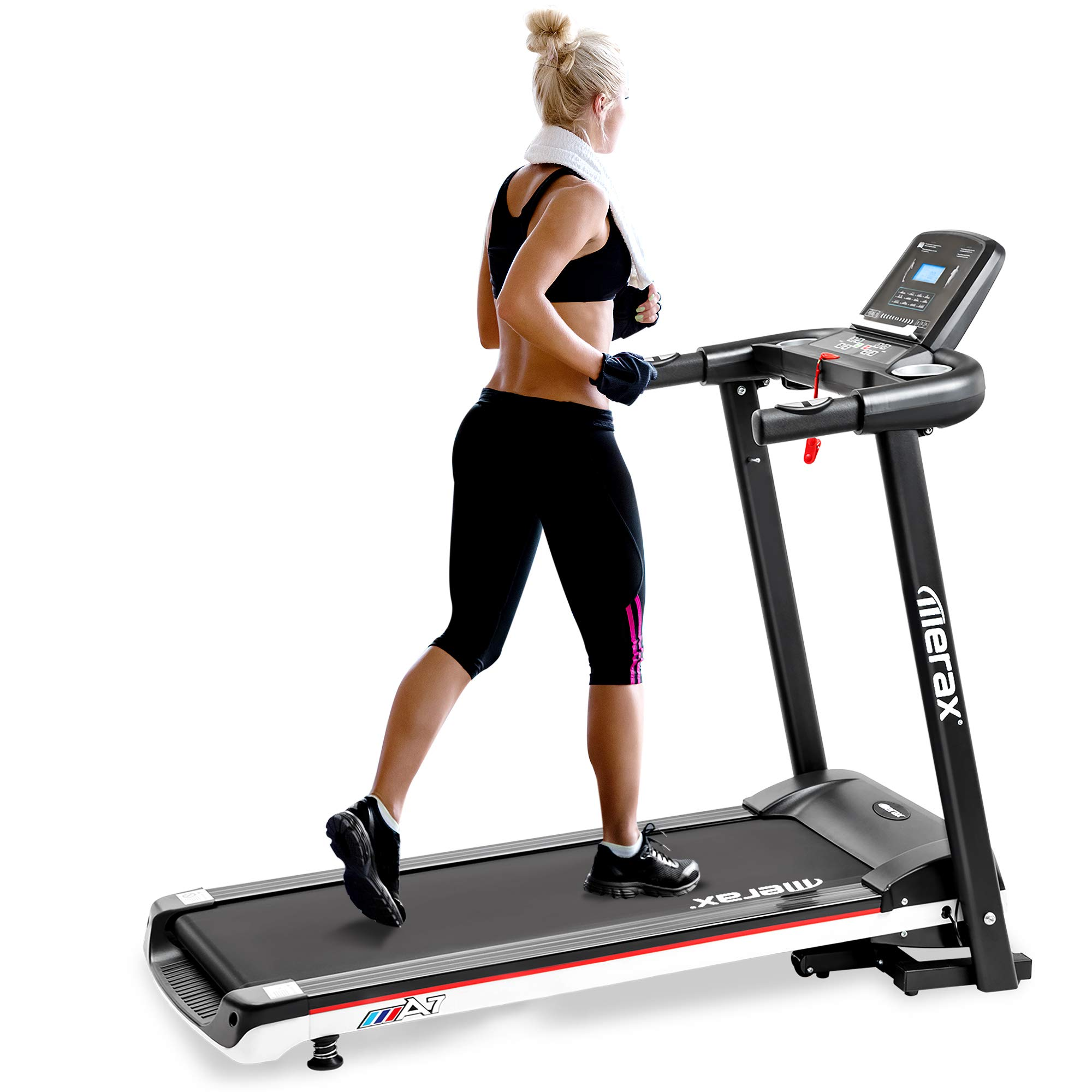 P PURLOVE Folding Treadmill Electric Treadmill for Running Easy Assembly Motorized Power Running Machine Fitness