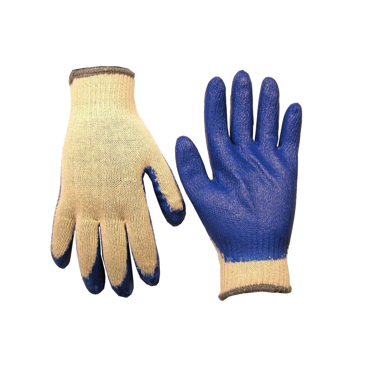 Dottie 2029L String Knit Gloves with Blue Dip Large