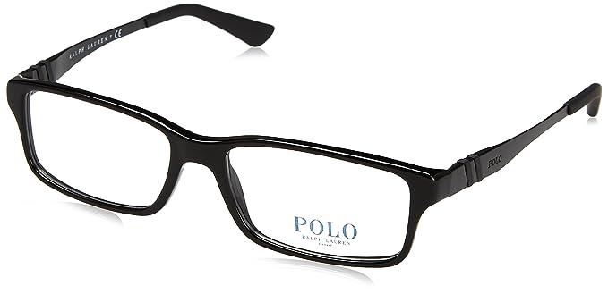 Ralph Lauren POLO 0PH2115 Monturas de gafas, Shiny Black, 54 para ...
