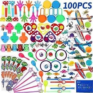 nicknack 100Pcs Juguetes de Fiesta a Granel Infantil ,Relleno Piñatas y Bolsas de Fiesta, Regalo de Cumpleaños ,Infantiles del Partido Favor Niñas Niños o para el Colegio