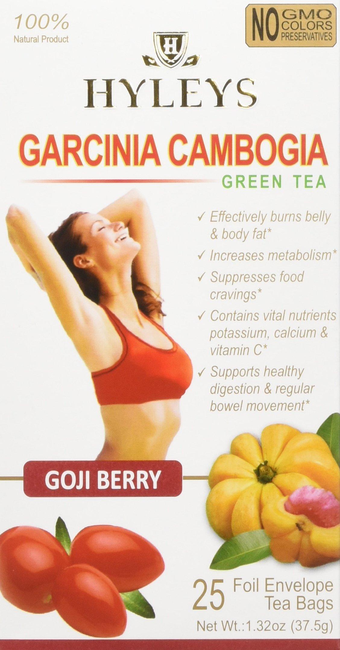 HYLEYS Tea Garcinia Cambogia & Goji Berry, 12 Count (Pack Of 12)