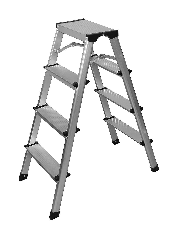 Aluminio Escalera – Escalera 4 peldaños: Amazon.es: Bricolaje y ...