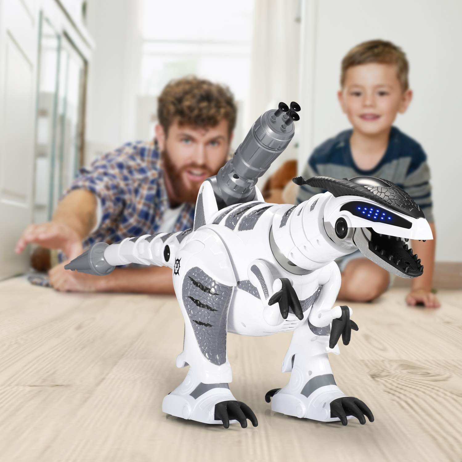 SGILE RC Dinosaur Robot Toy, Smart Programmable Interactive Walk Sing Dance for Kids Gift Present by SGILE (Image #7)