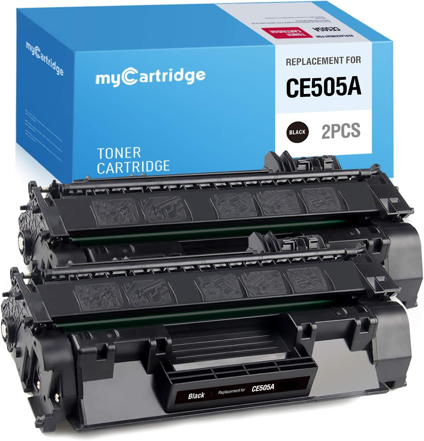 MYCARTRIDGE Compatible Toner Cartridge Replacement for HP 05A CE505A for Laserjet P2035 P2035n P2055dn P2055d P2055x Pro m401n m401dne m401dw M401a M401d M401dn MFP M425dn M425dw M425 (Black, 2-Pack)