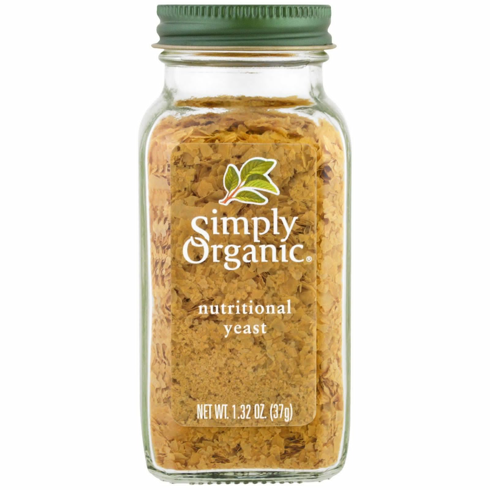 Simply Organic, Organic, Nutritional Yeast, 1.32 oz(Pack of 2)