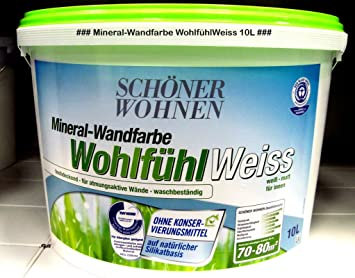 Schoner Wohnen Farbe Wandfarbe Wohlfuhlweiss 10 L Weiss Amazon De Baumarkt