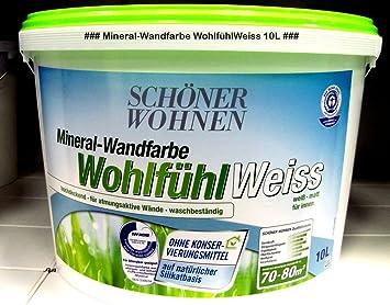 Schoner Wohnen Farbe Wandfarbe Wohlfuhlweiss 10 L Weiss Amazon De