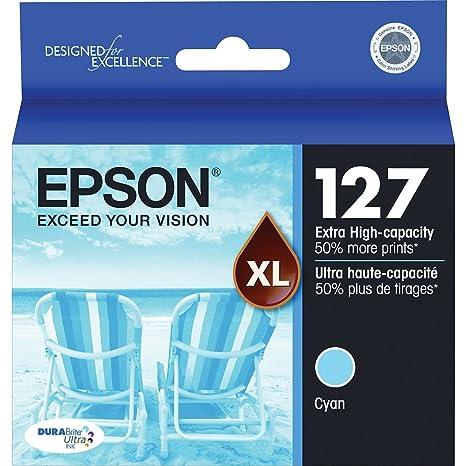 Amazon.com: Original de Epson cartucho T1272 (cian) para ...